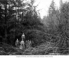 Loggers in the woods, Coats-Fordney Lumber Company, near Aberdeen, ca. 1920