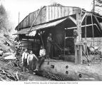 Donkey engine and crew, Coats-Fordney Lumber Company, near Aberdeen, ca. 1920
