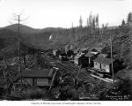 Independence Logging Company's railroad logging camp 5, ca. 1924