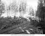 Clemons Logging Company railroad logging camp 4, near Melbourne, ca. 1930