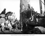 Loading crew, camp 5, Clemons Logging Company, near Melbourne, ca. 1930
