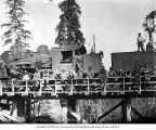 Crew with Clemons Logging Company Climax locomotive, near Melbourne, ca. 1930