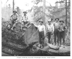 Logging crew, Lewis Mills and Timber Company camp no. 4, ca. 1922