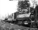 2-6-0 Baldwin locomotive #8, Benson Timber Company, Clatskanie, ca. 1920s-1930s