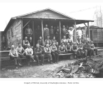Logging crew at camp, Elbe Lumber and Shingle Company, n.d.