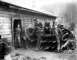 Blacksmith shop crew, Clark & Wilson Lumber Company, Oregon, ca. 1927