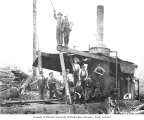Logging crew and donkey engine, Elbe Lumber and Shingle Company, n.d.