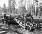 CAT tractor with arch, Crater Lake Lumber Company, Medford, ca. 1910-1937