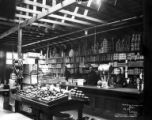 Hammond store interior, Hammond Lumber Company, Mill City, ca. 1912-1934