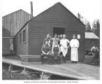 Crew at logging camp, Clear Lake Lumber Company, n.d.