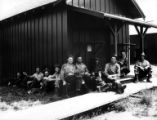 Crew at camp, Oregon & American Lumber Company, Columbia County, ca. 1929