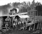 Pile driver, Sunset Timber Company, Washington, ca. 1920