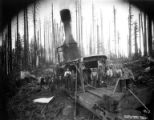 Crew with donkey engine, Twin Falls Logging Company, Yacolt, ca. 1916