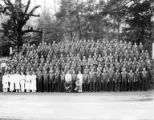 Crew at camp, Camp Gasquet, Company 5478, Civilian Conservation Corps, Crescent City, ca. 1937-1942