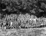 Crew group portrait, Camp McKinley, Company 3558, Civilian Conservation Corps, McKinley, ca....