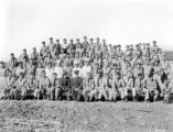 Crew group portrait, Camp Funeral Range, Company 912, Civilian Conservation Corps, Death Valley,...