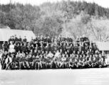 Crew group portrait, Camp Rand, Company 5484, Civilian Conservation Corps, Josephine County, ca....