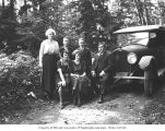 Family group and Lexington automobile, ca. 1921