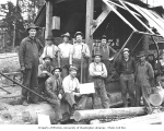 Hamilton Logging Company piledriver bridge crew, responsible for building second Red Cabin Creek...