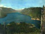 Bird's-eye view of Lake Crescent, ca. 1927