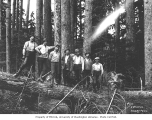 Logging crew, National Lumber and Manufacturing Company, ca. 1920