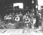 Carbon River Shingle Company mill workers and children, n.d.