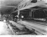 Interior of mill, showing gang saw, Luedinghaus Lumber Company, Dryad, n.d.