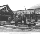 Mill crew and horse, McCaughey Mill Company, Fortson, n.d.