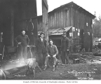 Blacksmith shop crew, Mud Bay Logging Company, n.d.