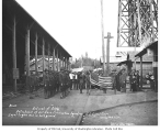 Spruce Production Division soldiers, with members of the Loyal Legion of Loggers and Lumbermen in...
