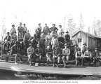 Logging crew at camp, Phoenix Logging Company, Potlatch, ca. 1919