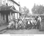 Asian mill crew and children, Pacific National Lumber Company, National, n.d.