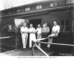 Mess hall crew, Ostrander Railway and Timber Company, ca. 1930