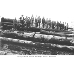 Logging crew on cold deck, Ostrander Railway and Timber Company, ca. 1930