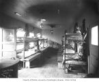 Bunkhouse interior, Coats-Fordney Lumber Company Camp No. 1, ca. 1917