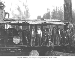 Logging crew and Willamette donkey engine, St. Paul and Tacoma Lumber Company, n.d.