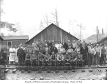 Logging and mess hall crews at railroad camp no. 15, Schafer Brothers Logging Company, n.d.
