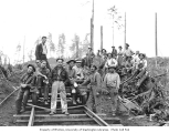 Asian railroad construction crew and bosses, Schafer Brothers Logging Company, n.d.