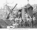 Osgood steam shovel and construction crew, Schafer Brothers Logging Company, n.d.