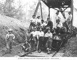 Asian track gang and rail machine, Schafer Brothers Logging Company, n.d.
