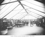 Spruce Division soldiers in recreation tent, ca. 1918