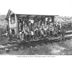 Logging crew on speeder, White River Lumber Company, Enumclaw, n.d.