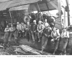 Logging crew and donkey engine, Weyerhaeuser Timber Company, Vail, n.d.
