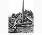 Logging crew atop large cold deck, Schafer Brothers Logging Company, n.d.