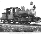 Crew with Snoqualmie Falls Lumber Company's 0-4-4 locomotive built by Rhode Island Locomotive...