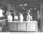 Cooks in galley, Snoqualmie Falls Lumber Company, ca. 1921