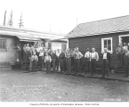 Logging crew at mess hall, Snoqualmie Falls Lumber Company, n.d.