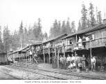 Crew at logging camp no. 3, Schafer Brothers Logging Company, 1922