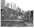 Logging crew at Wynooche Timber Company's camp no. 1, ca. 1921
