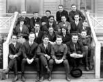 Fisheries Club group portrait, University of Washington, Seattle, March 1923